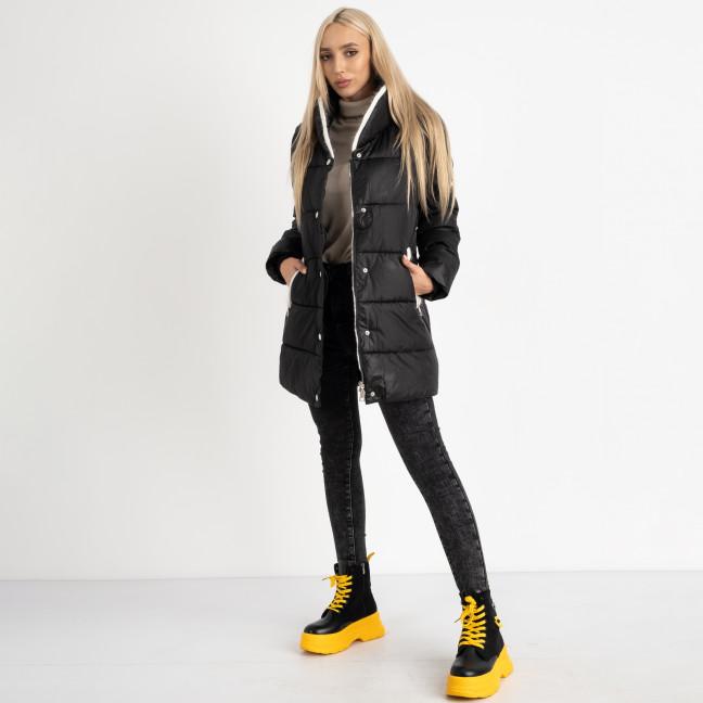 8919-1 черная куртка женская на синтепоне (4 ед. размеры: M.L.XL.2XL) Куртка: артикул 1124741