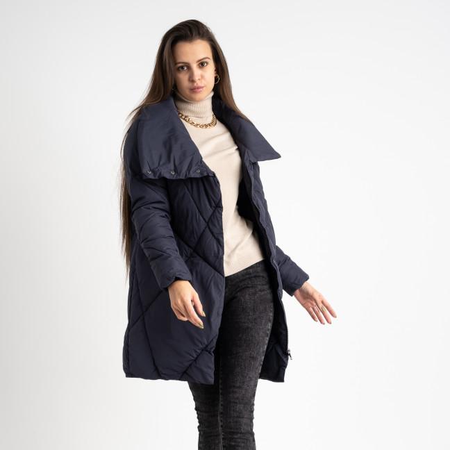 2036-1 синяя куртка женская на синтепоне (4 ед. размеры: M.L.XL.2XL) Куртка: артикул 1124763