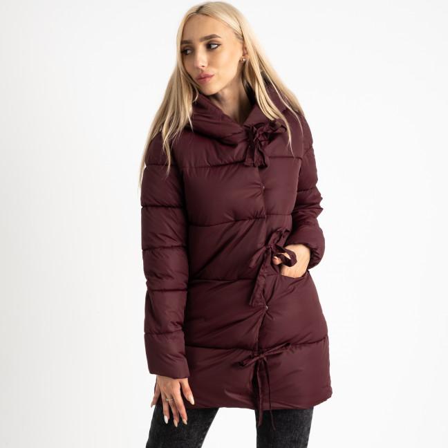 1915-3 бордовая куртка женская на синтепоне (4 ед. размеры: M.L.XL.2XL) Куртка: артикул 1124717