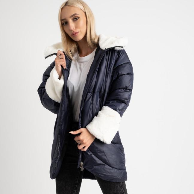 8930-2 синяя куртка женская на синтепоне (4 ед. размеры: M.L.XL.2XL) Куртка: артикул 1124739