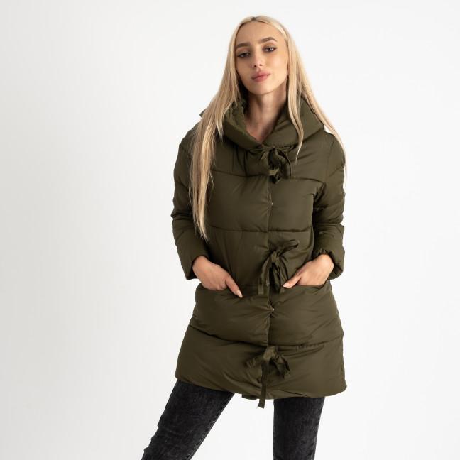 1915-4 хаки куртка женская синтепоновая на длинной змейке (4 ед. размеры: M.L.XL.2XL) Куртка: артикул 1124716