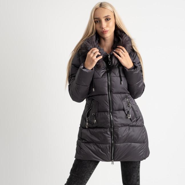 1906-2 серая куртка женская на синтепоне (4 ед. размеры: M.L.XL.2XL) Куртка: артикул 1124726