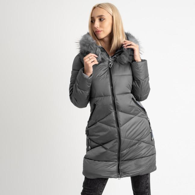 1905-2 серая куртка женская на синтепоне (4 ед. размеры: M.L.XL.2XL) Куртка: артикул 1124722