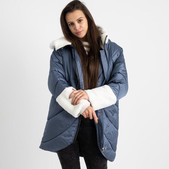 8930-3 голубая куртка женская на синтепоне (4 ед. размеры: M.L.XL.2XL) Куртка: артикул 1124737
