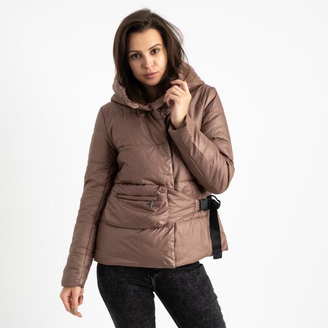 0887-5 коричневая куртка женская на синтепоне (4 ед. размеры: M.L.XL.2XL) Куртка: артикул 1124735