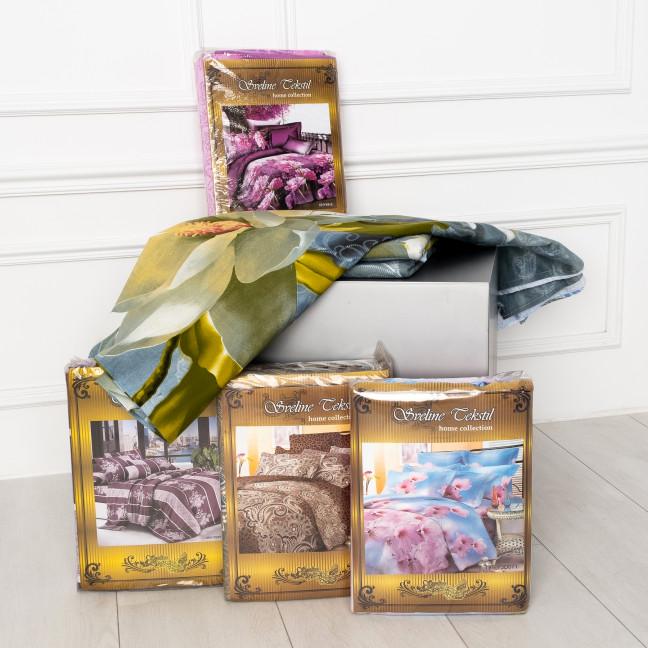 0803 семейный комплект постельного белья микс цветов  Спальное белье: артикул 1124756