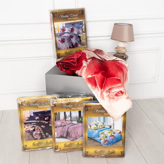 0802 евро комплект постельного белья микс цветов  Спальное белье: артикул 1124755