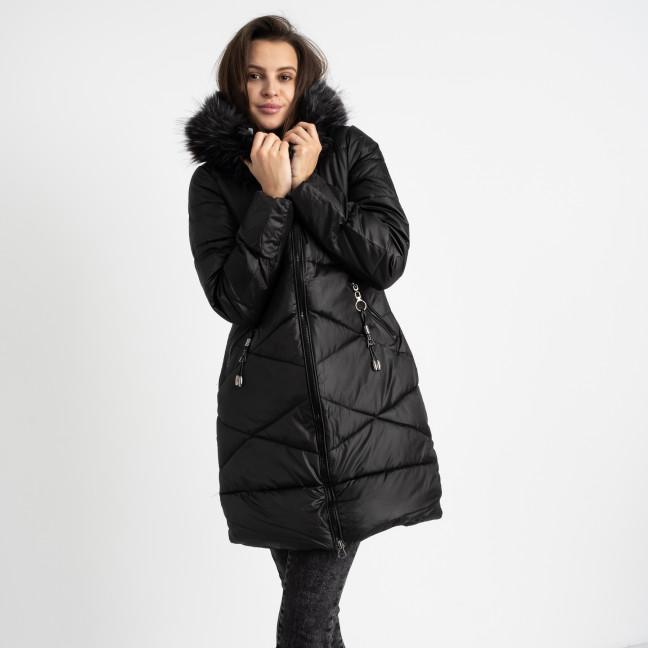 1905-11 черная куртка женская на синтепоне (3 ед. размеры: M/2.L) Куртка: артикул 1124958