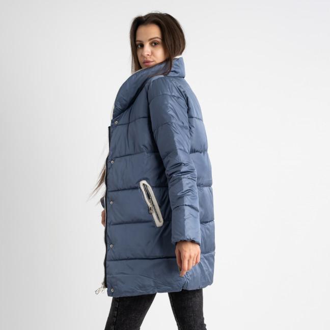 8919-3 голубая куртка женская на синтепоне (4 ед. размеры: M.L.XL.2XL) Куртка: артикул 1124743