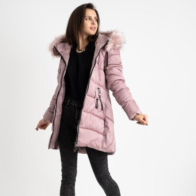 1906-5 розовая куртка женская на синтепоне (4 ед. размеры: M.L.XL.2XL) Куртка: артикул 1124728