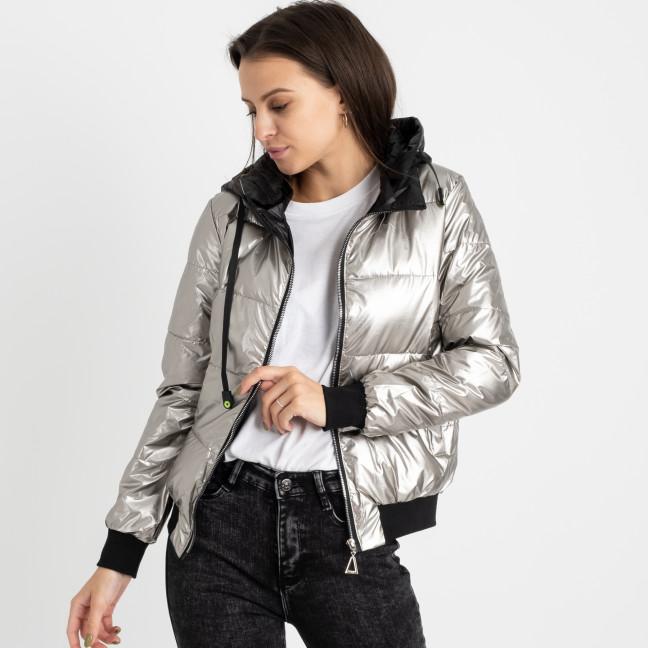 6021-2 серебряная куртка женская на синтепоне (4 ед. размеры: M.L.XL.2XL) Куртка: артикул 1124784