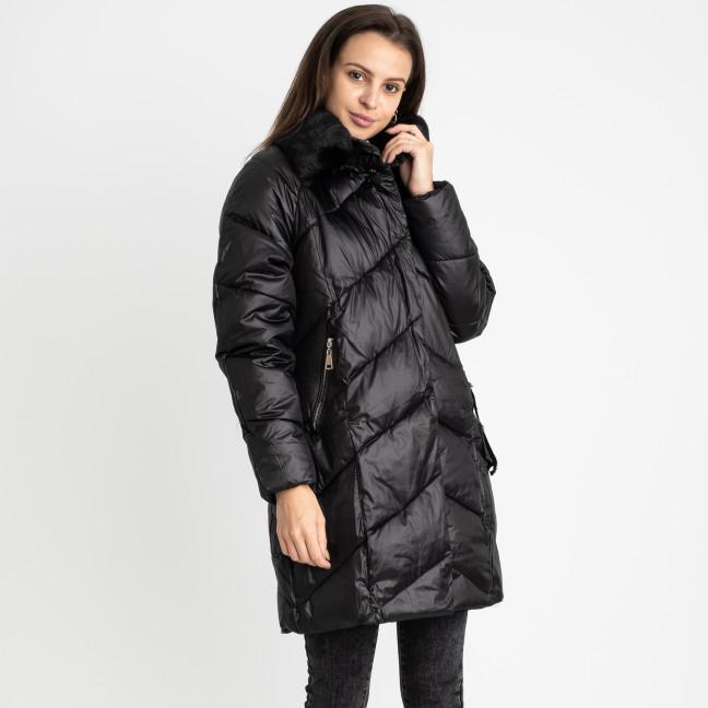 8801-4 черная куртка женская на синтепоне (4 ед. размеры: M.L.XL.2XL) Куртка: артикул 1124770