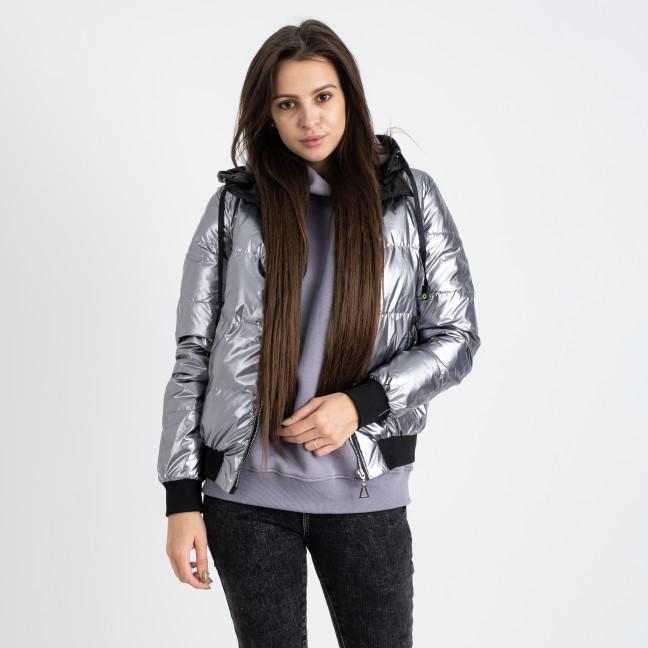 6021-3 серая куртка женская на синтепоне (4 ед. размеры: M.L.XL.2XL) Куртка: артикул 1124785
