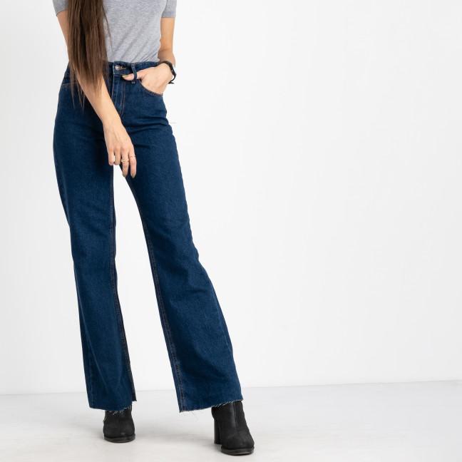 6632 синие джинсы-трубы женские котоновые (8 ед.размеры:25.26/2.28/2.30/2.32) Джинсы: артикул 1124849