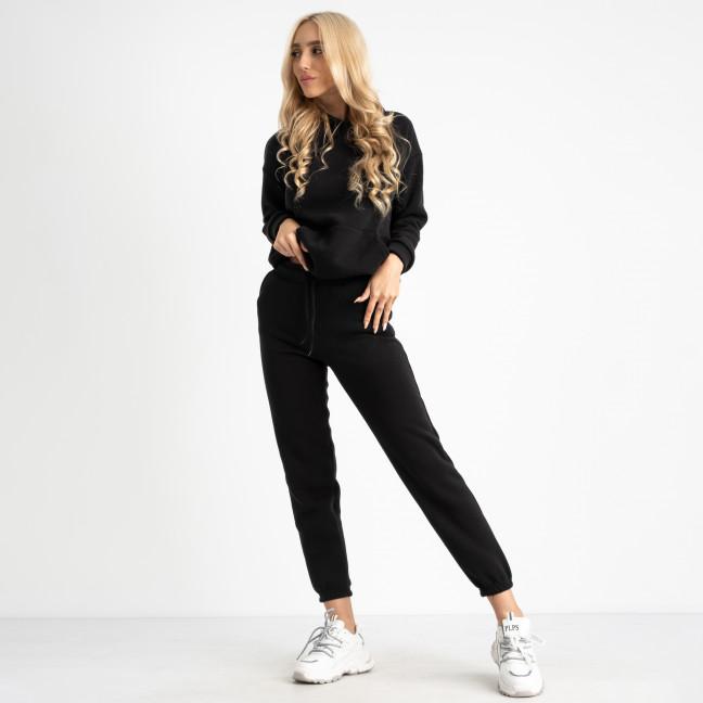 15444-1 Mishely спортивный костюм черный женский из трехнитки на флисе (4 ед. размеры: S.M.L.XL) Mishely: артикул 1124670