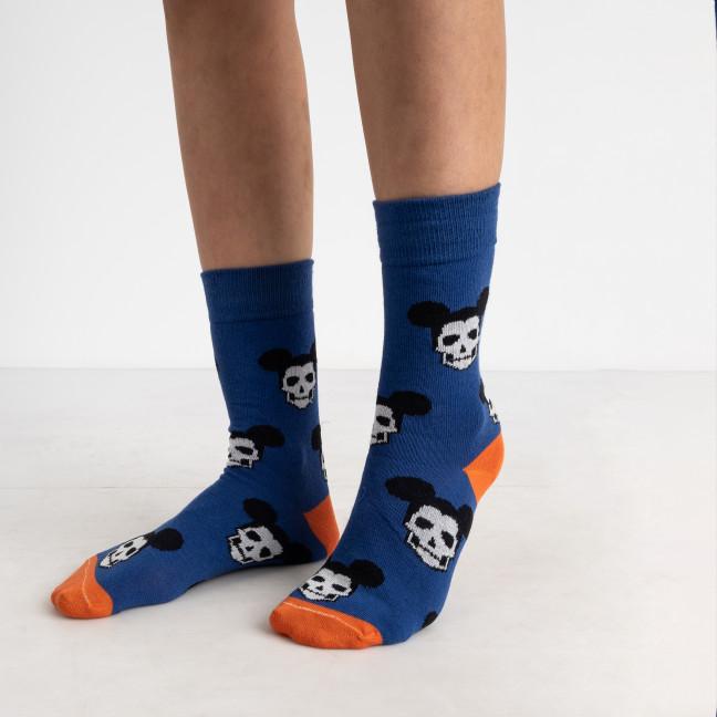 0052-1 синие носки теплые (12 ед. размеры: 36-39 и 39-41) Носки: артикул 1125620