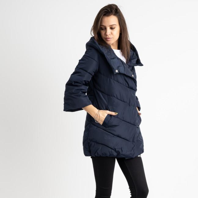 8661-2 синяя куртка женская на синтепоне рукав 3/4  (4 ед .размеры:L.XL.2XL.3XL) Куртка: артикул 1125054