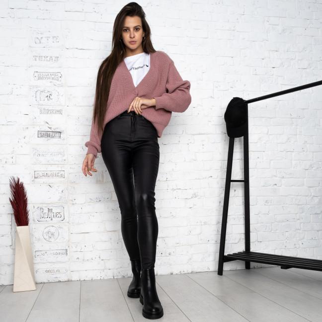 0770 Forest jeans черные брюки из экокожи женские на байке (6 ед.размеры: 25.26.27.28.29.30) Forest Jeans: артикул 1125099
