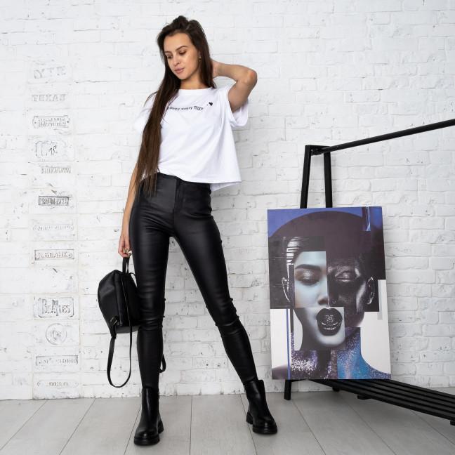 0782 Forest jeans черные брюки из экокожи женские на байке (6 ед.размеры: 25.26.27.28.29.30) Forest Jeans: артикул 1125101
