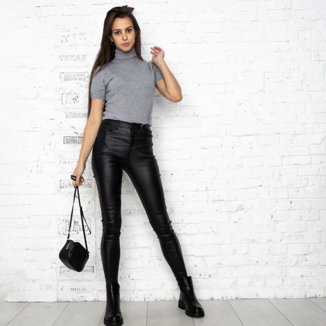 0783 Forest jeans черные брюки из экокожи женские на байке (6 ед.размеры: 25.26.27.28.29.30) Forest Jeans: артикул 1125100