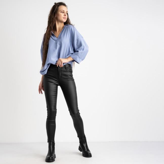 5252-2 Water jeans черные брюки женские стрейчевые на флисе (6 ед.размеры: XS.S.M/2.L.XL) Брюки: артикул 1125104