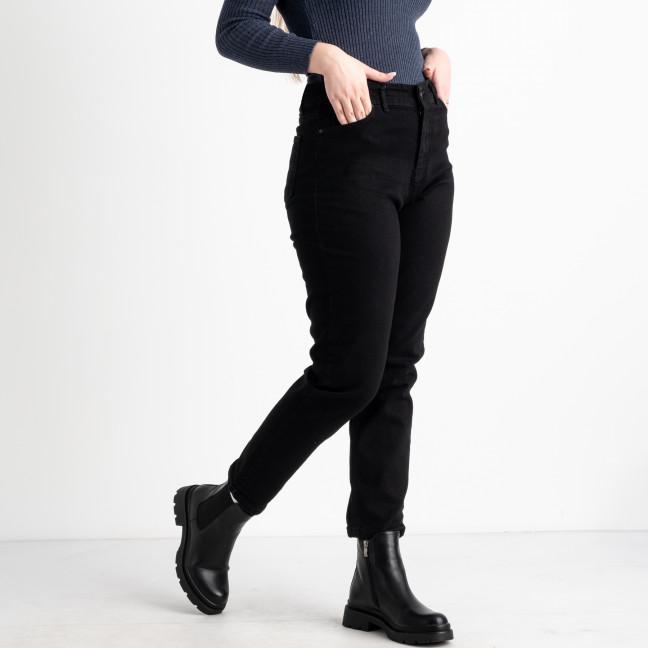 0971 Jean Shop мом женский черный батальный стрейчевый (8 ед.размеры: 30.31.32.33/2.34.36.38) Jean Shop: артикул 1125094