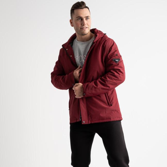 8804 бордовая куртка мужская на синтепоне (5 ед. размеры: L.XL.2XL.3XL.4XL) Куртка: артикул 1125176