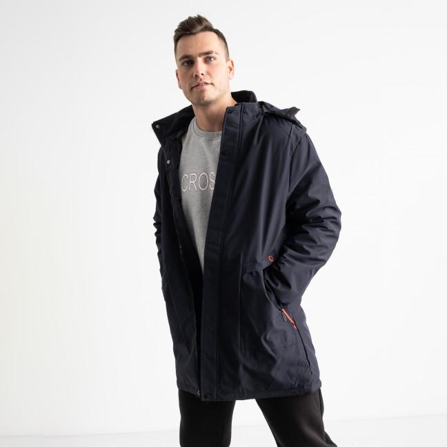 8806 синяя куртка мужская на синтепоне (5 ед. размеры: L.XL.2XL.3XL.4XL) Куртка: артикул 1125179