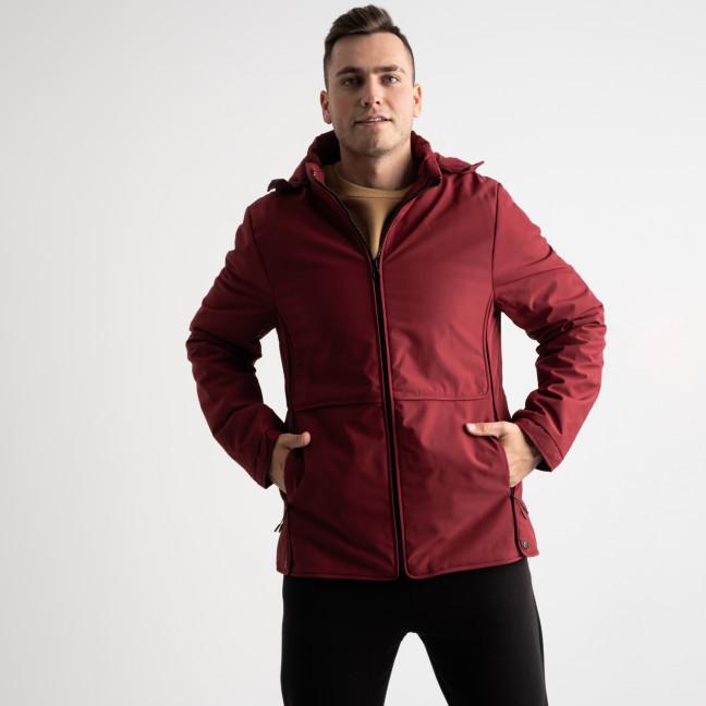 8801 бордовая куртка мужская на синтепоне (5 ед. размеры: L.XL.2XL.3XL.4XL) Куртка: артикул 1125177