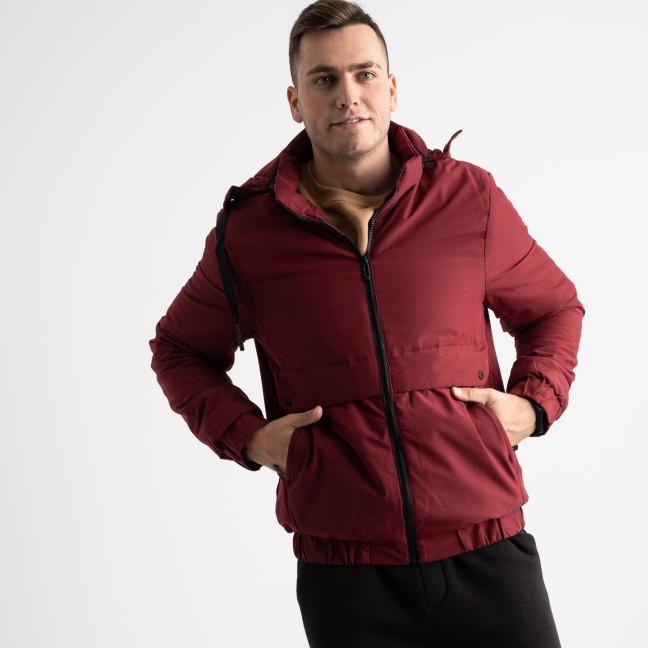 8802 бордовая куртка мужская на синтепоне (5 ед. размеры: L.XL.2XL.3XL.4XL) Куртка: артикул 1125178