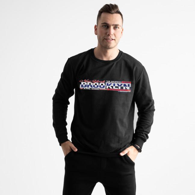 0481-1 Climatic Sport черный свитшот мужской с накаткой (4 ед. размеры: M.L.XL.2XL) Climatic sport: артикул 1125409