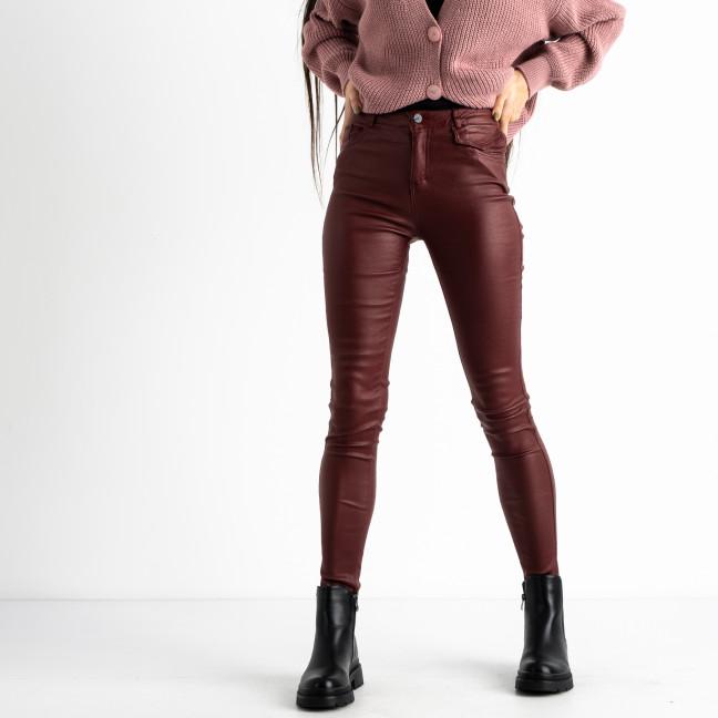 0101-3 XYH бордовые брюки из экокожи на байке (6 ед.размеры: 25.26.27.28.29.30) XYH: артикул 1125312