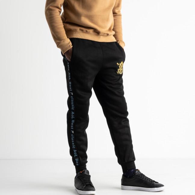 0089-3 спортивные штаны мужские батальные на байке с синими лампасами  (5 ед.размеры: XL.2XL.3XL.4XL.5XL) Спортивные штаны: артикул 1125036
