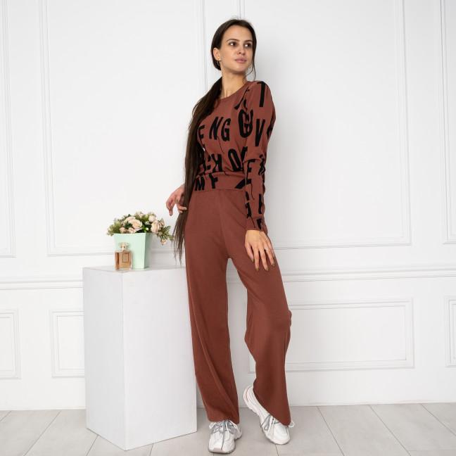 1608-4 M.K.Store коричневый спортивный костюм женский (3 ед.размеры: универсал 44-48) M.K.Store: артикул 1125258