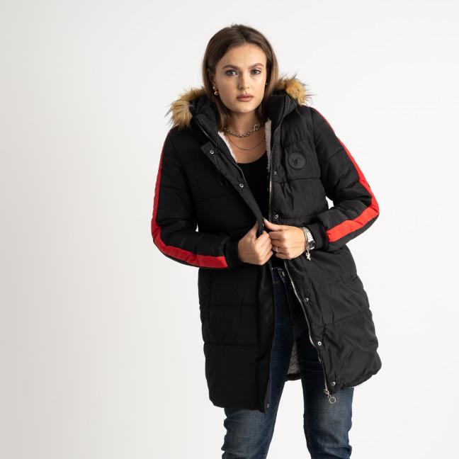 6042-1 Vikstory черная куртка женская на меховой подкладке ( 4 ед.размеры: 42.44.46.48) Vikstory: артикул 1125385