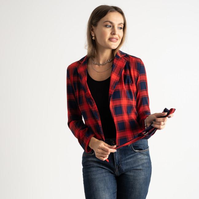 9912 красный пиджак в клетку женский ( 5 ед.размеры: 42-46 ) Пиджак: артикул 1125202