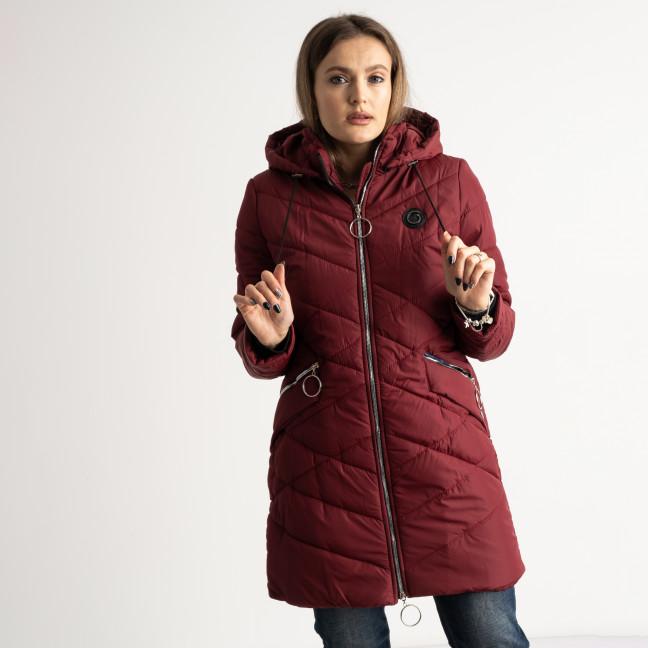 6039-3 Vikstory бордовая куртка женская на синтепоне ( 4 ед.размеры: 42.44.46.48) Vikstory: артикул 1125392