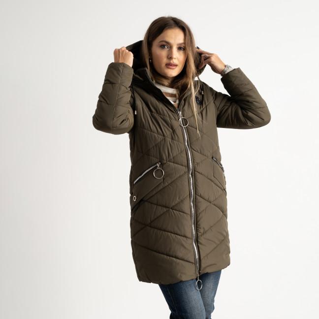 6039-4 Vikstory хаки куртка женская на синтепоне ( 4 ед.размеры: 42.44.46.48) Vikstory: артикул 1125393