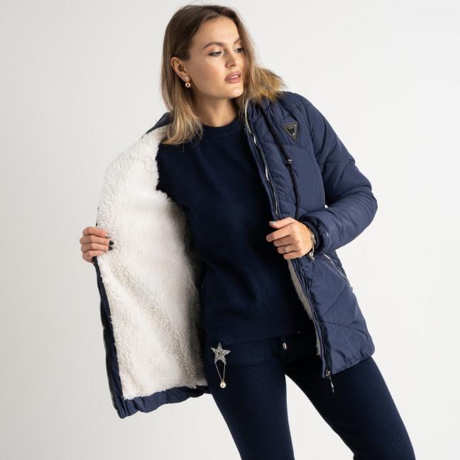 6043-2 Vikstory темно-синяя куртка женская на меховой подкладке ( 4 ед.размеры: 42.44.46.48) Vikstory: артикул 1125397