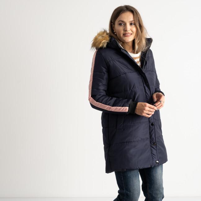 6042-2 Vikstory темно-синяя куртка женская на меховой подкладке ( 4 ед.размеры: 42.44.46.48) Vikstory: артикул 1125386