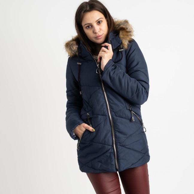 6016-2 Vikstory темно-синяя куртка женская на меховой подкладке ( 4 ед.размеры: 42.44.46.48) Vikstory: артикул 1125394