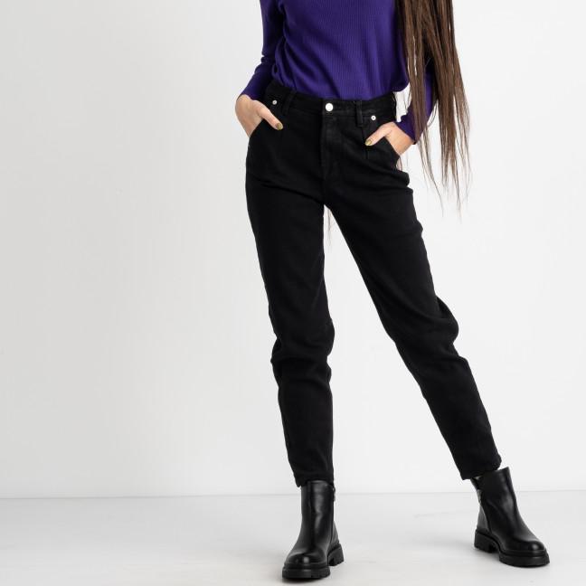 0948-5 Relucky джинсы-слоучи на байке черные стрейчевые (6 ед. размеры: 25.26.27.28.29.30) Relucky: артикул 1125421