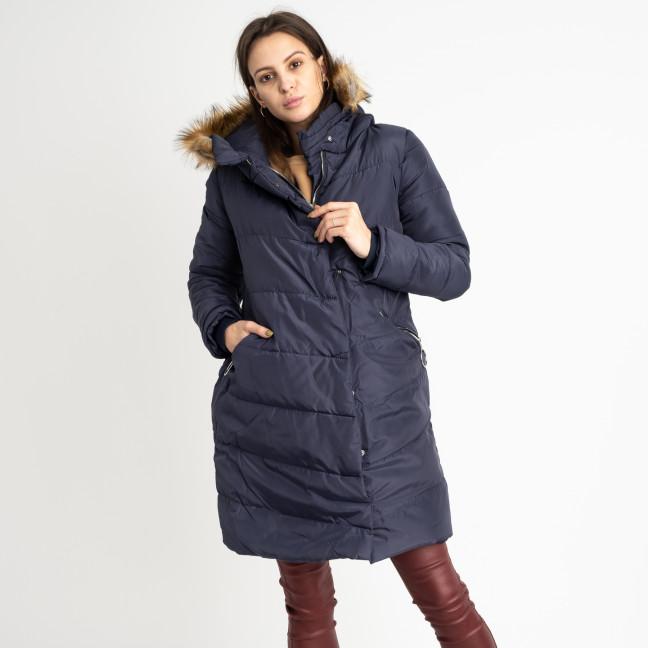 6041-2 Vikstory темно-синяя куртка женская на меховой подкладке ( 4 ед.размеры: 42.44.46.48) Vikstory: артикул 1125406
