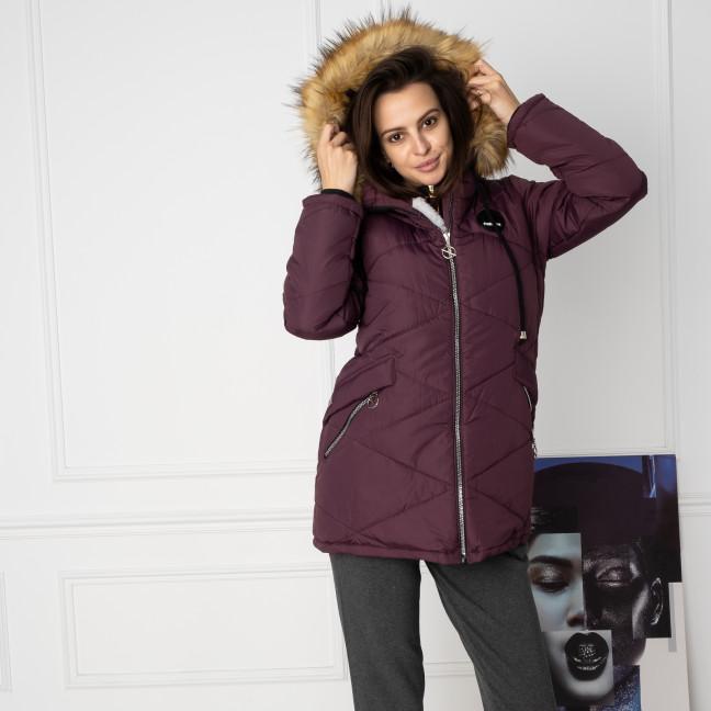 6043-6 Vikstory фиолетовая куртка женская на меховой подкладке ( 4 ед.размеры: 42.44.46.48) Vikstory: артикул 1125400