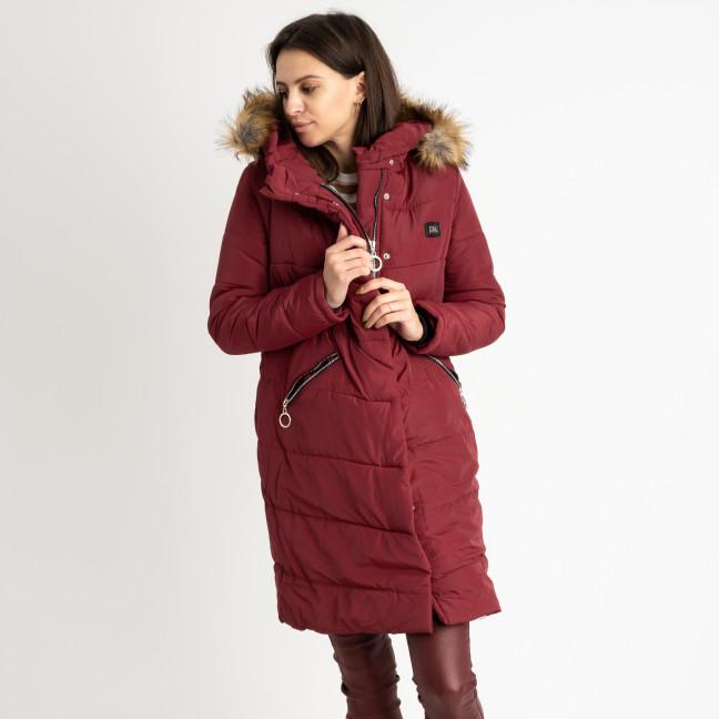 6041-3 Vikstory бордовая куртка женская на синтепоне ( 4 ед.размеры: 42.44.46.48) Vikstory: артикул 1125405