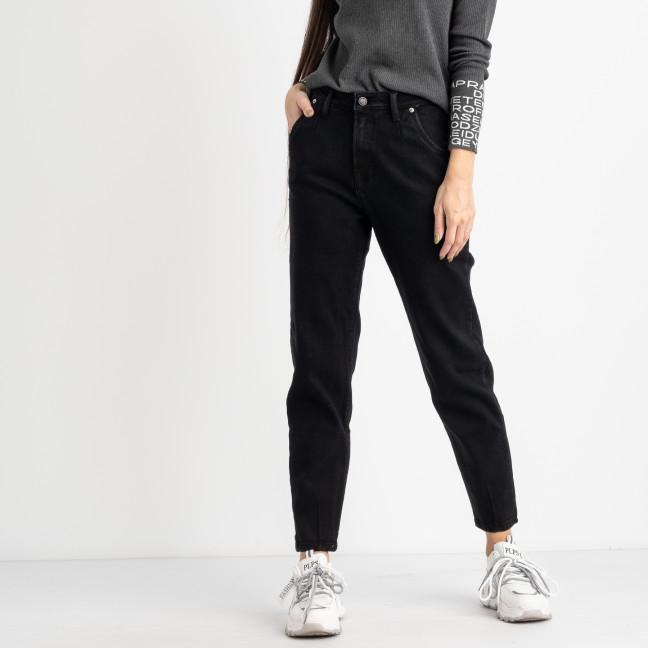 0947-5 Relucky джинсы-слоучи на байке черные стрейчевые (6 ед. размеры: 25.26.27.28.29.30) Relucky: артикул 1125422