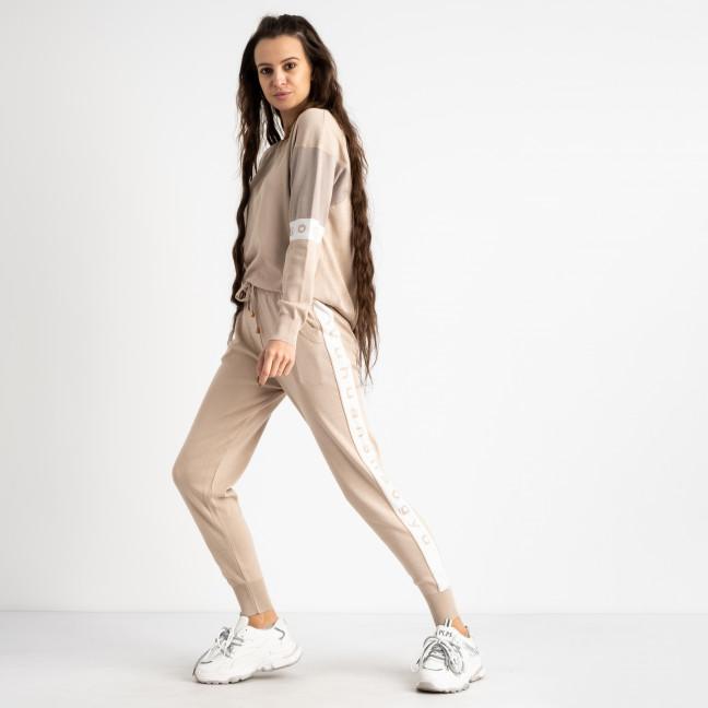 2111-1 M.K.Store бежевый спортивный костюм женский (3 ед.размеры: универсал 44-48) M.K.Store: артикул 1125360
