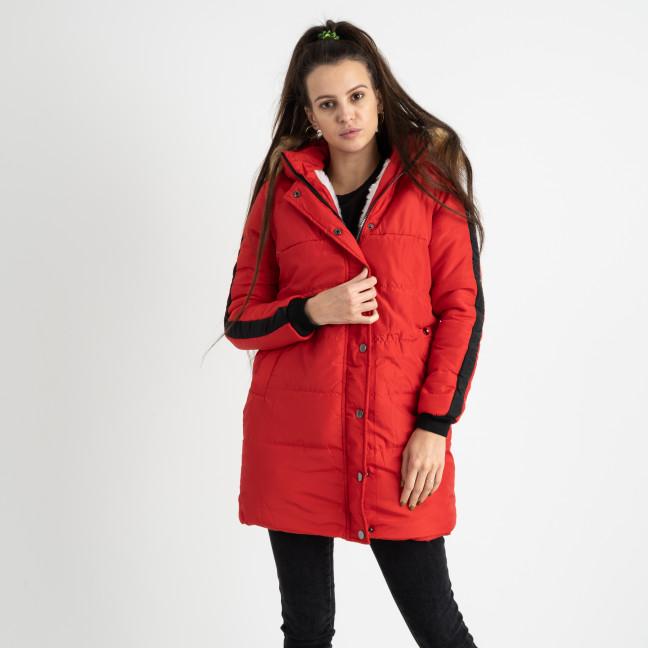 6042-3 Vikstory красная куртка женская на синтепоне ( 4 ед.размеры: 42.44.46.48) Vikstory: артикул 1125387