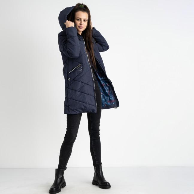 6039-2 Vikstory синяя куртка женская на синтепоне ( 4 ед.размеры: 42.44.46.48) Vikstory: артикул 1125391