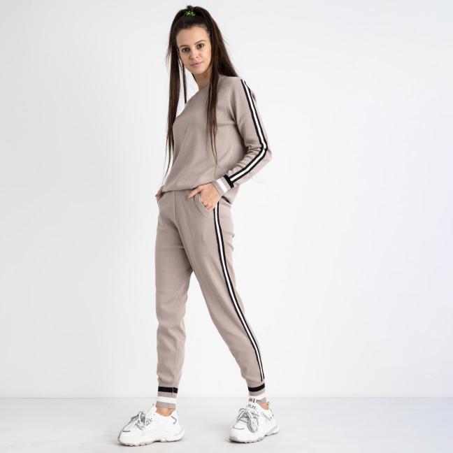 1603-2 M.K.Store бежевый спортивный костюм женский (3 ед.размеры: универсал 44-48) M.K.Store: артикул 1125335